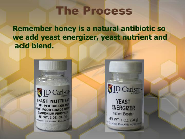Remember honey is a natural antibiotic so we add yeast