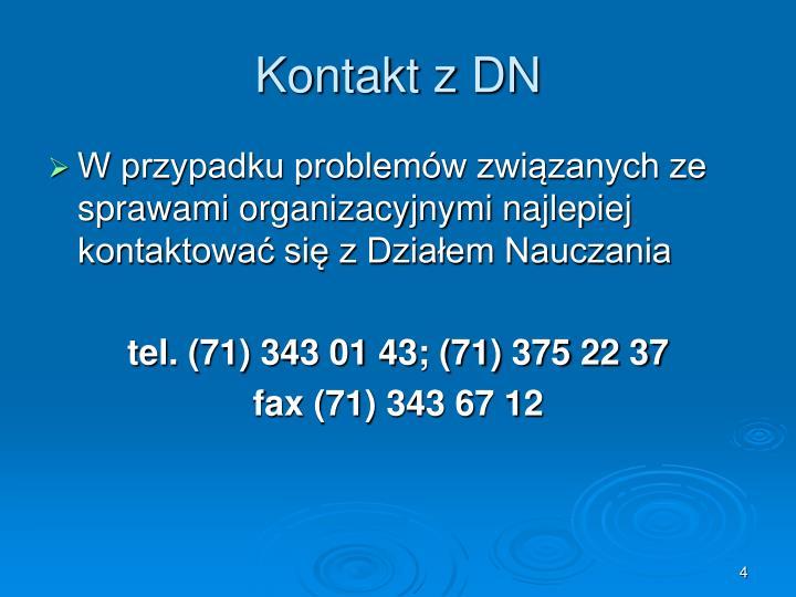 Kontakt z DN