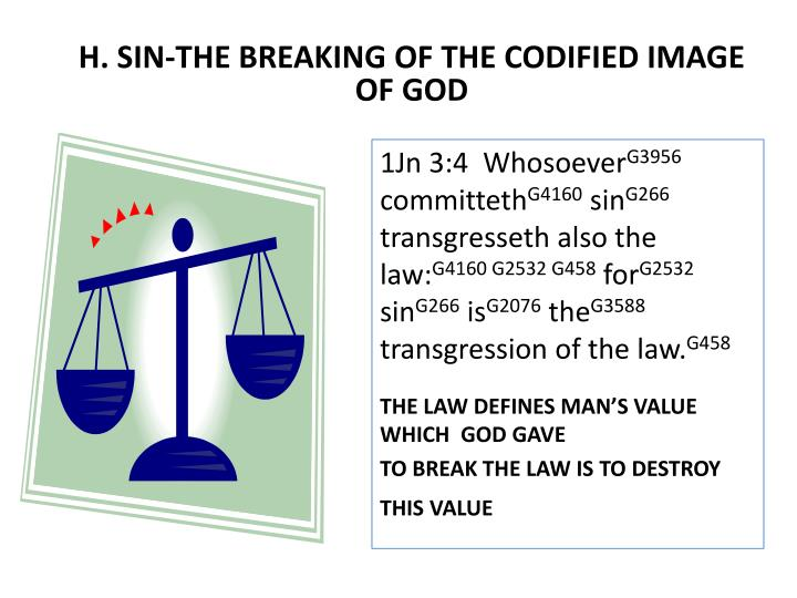 H. SIN-THE BREAKING OF THE CODIFIED IMAGE OF GOD