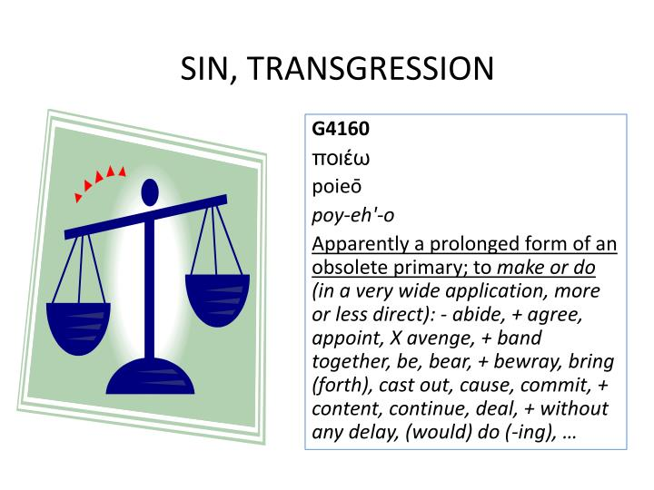SIN, TRANSGRESSION