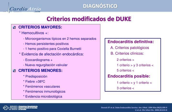 Criterios modificados de DUKE