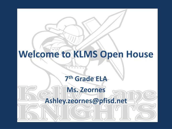 welcome to klms open house n.
