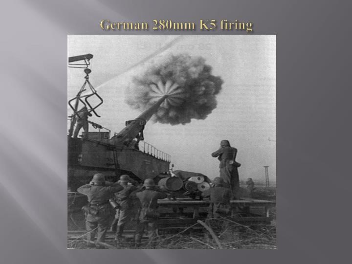 German 280mm K5