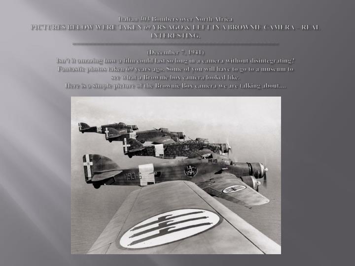 Italian 303 Bombers over North Africa