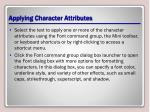 applying character attributes1