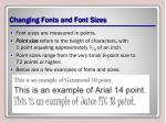 changing fonts and font sizes1
