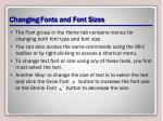 changing fonts and font sizes2