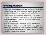 formatting with styles1