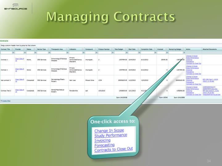 Managing Contracts