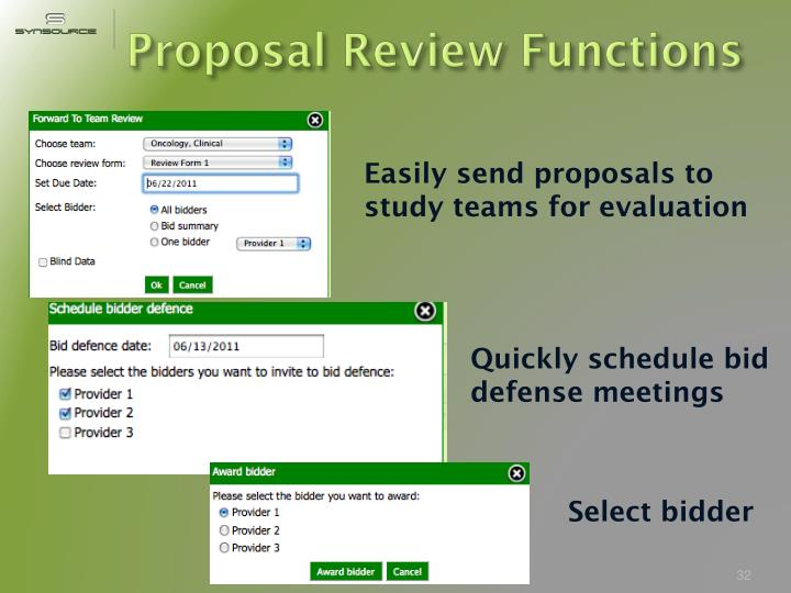 Proposal Review Functions