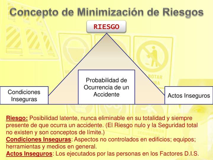 Concepto de Minimización de Riesgos