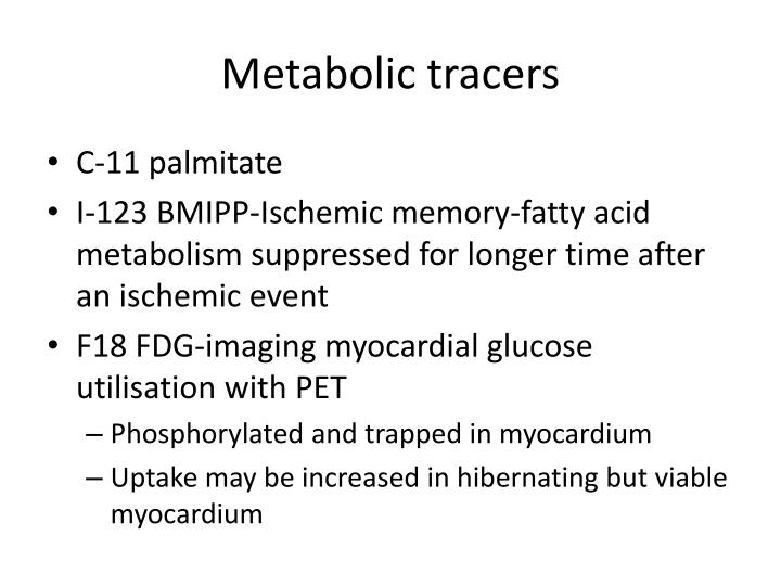Metabolic tracers