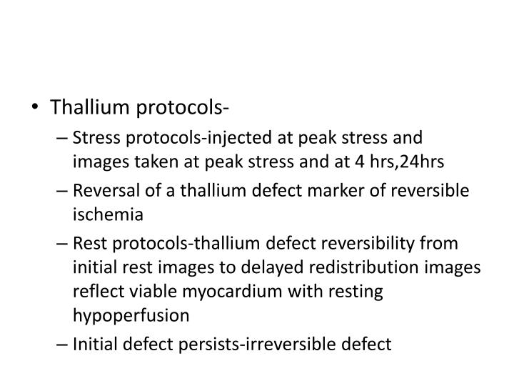 Thallium protocols-