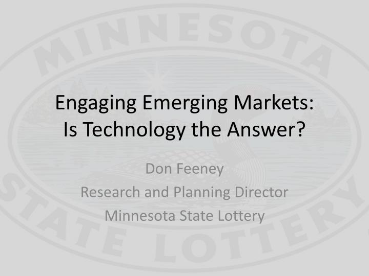Engaging emerging markets is technology the answer