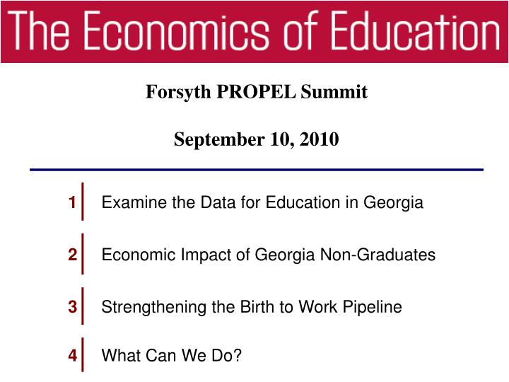 Forsyth PROPEL Summit