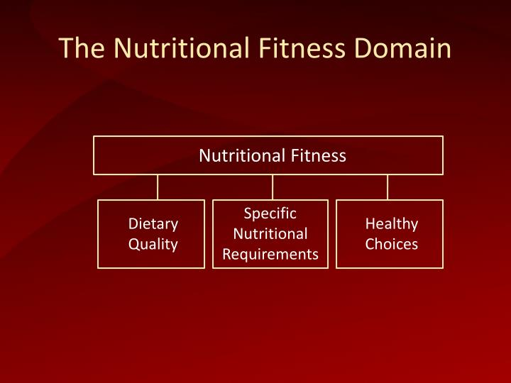 The nutritional fitness domain