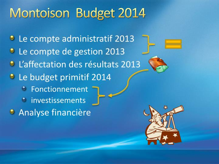 Montoison budget 20141