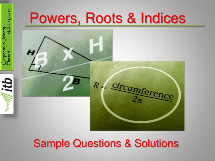 powers roots indices n.