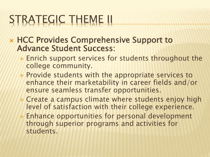 HCC Provides Comprehensive Support to Advance Student Success:
