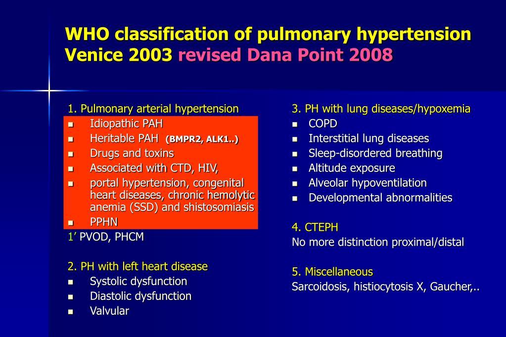 PPT - Ipertensione polmonare Eco e diagnosi: vantaggi..