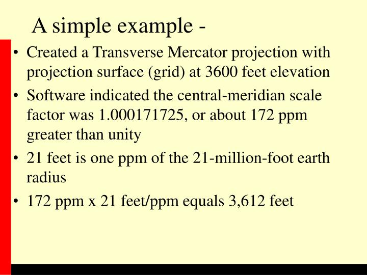 A simple example -