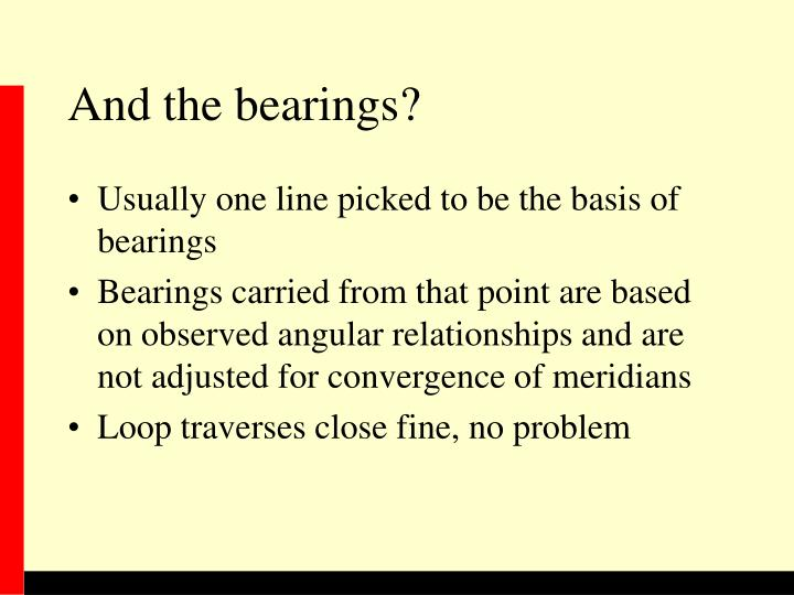 And the bearings?
