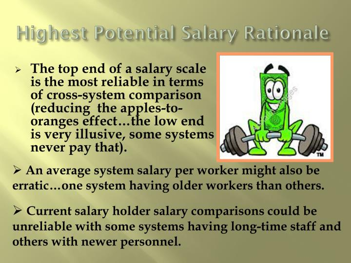 Highest Potential Salary Rationale