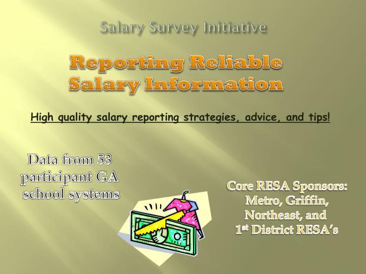 Salary survey initiative1
