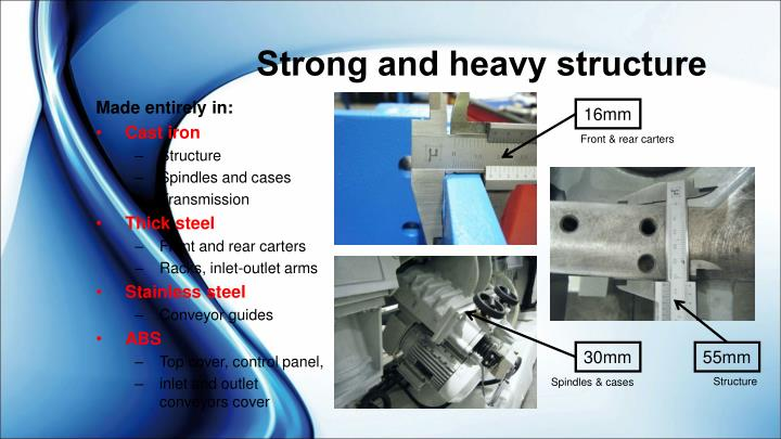 Strong and heavy structure