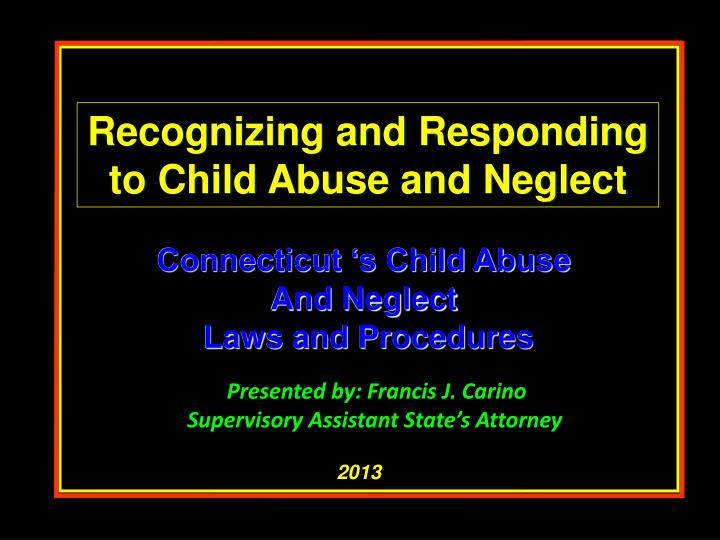 Recognizing and Responding