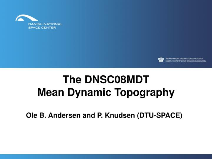 the dnsc08mdt mean dynamic topography n.