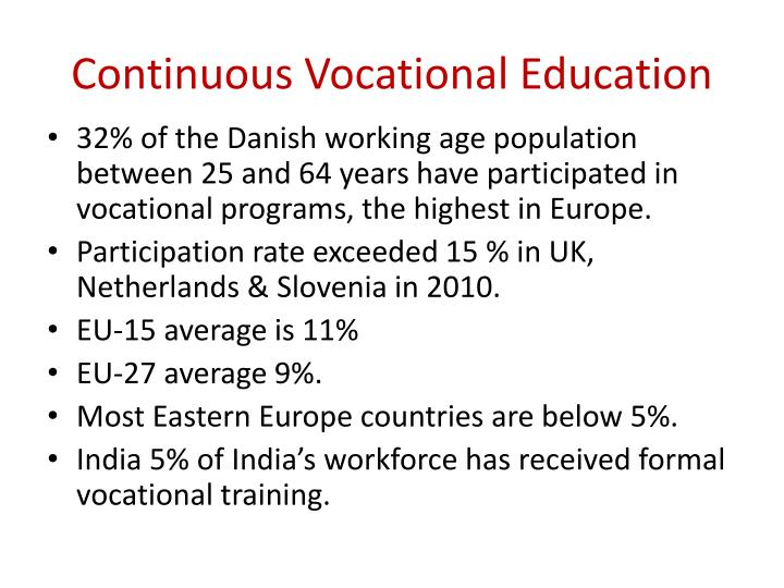 Continuous Vocational Education
