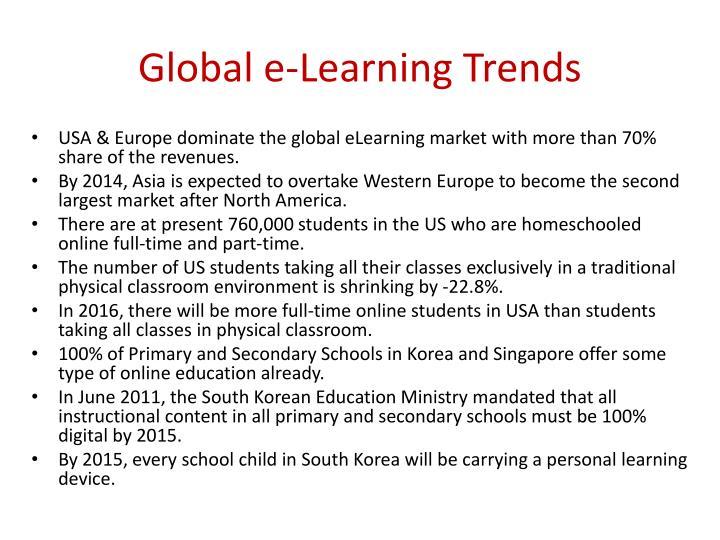 Global e-Learning Trends