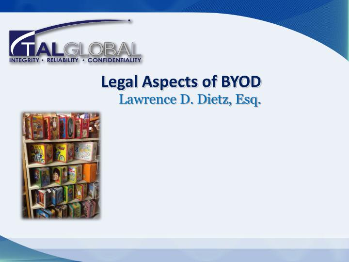 legal aspects of byod n.