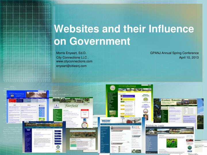 Websites and their influence on government
