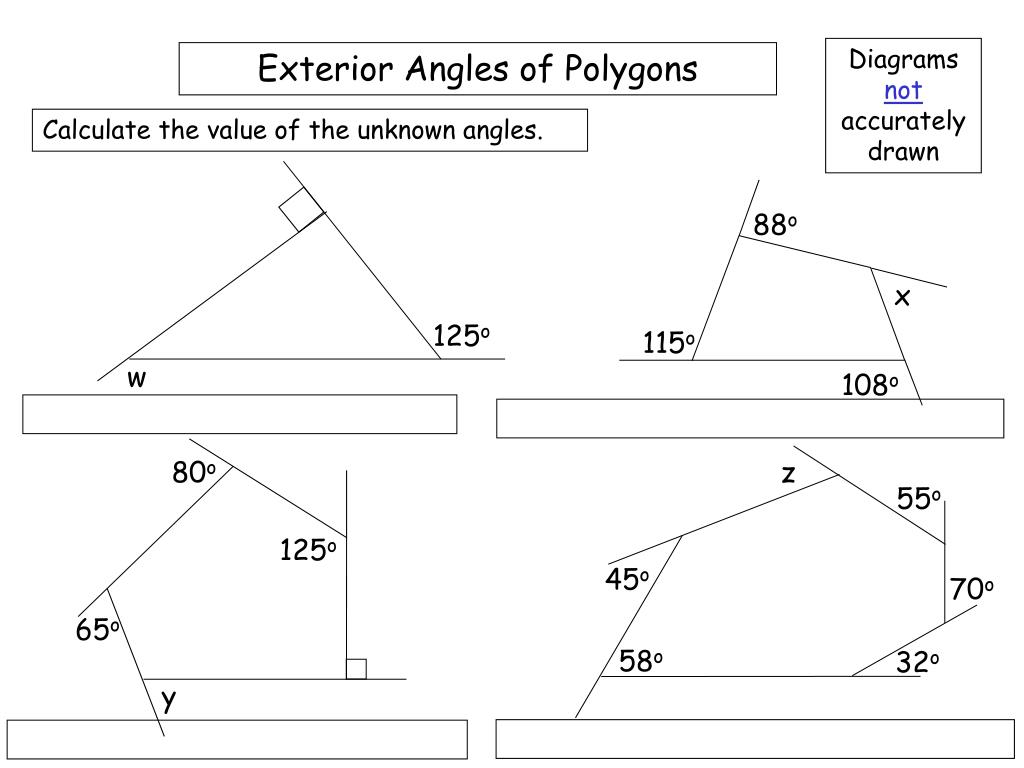 PPT   Exterior Angles of Polygons PowerPoint Presentation ...