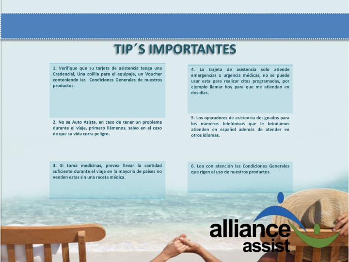 TIP´S IMPORTANTES