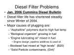 diesel filter problems