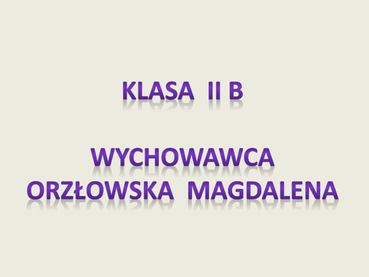 Klasa  Ii b