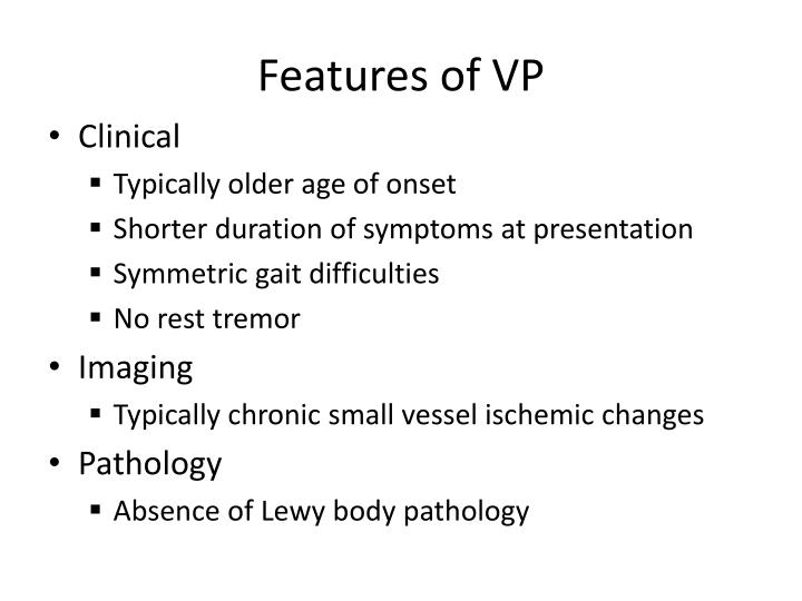 Features of VP