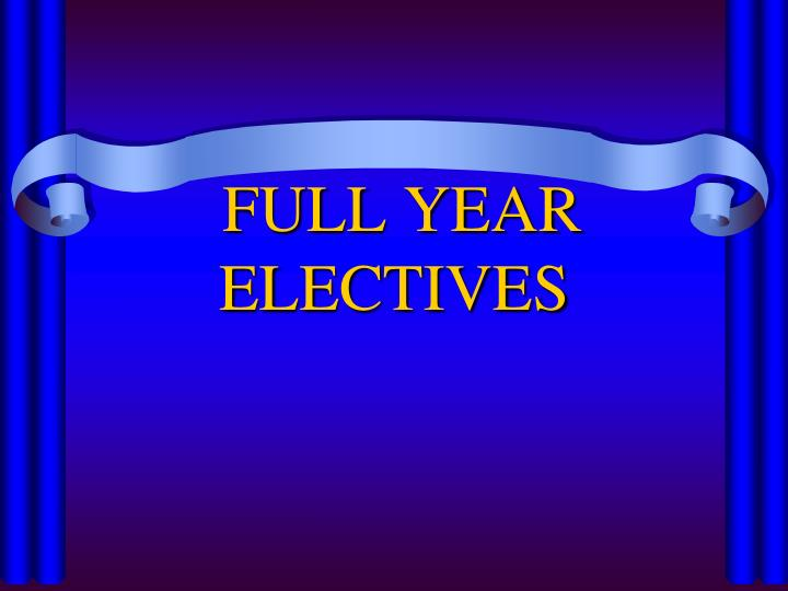 FULL YEAR
