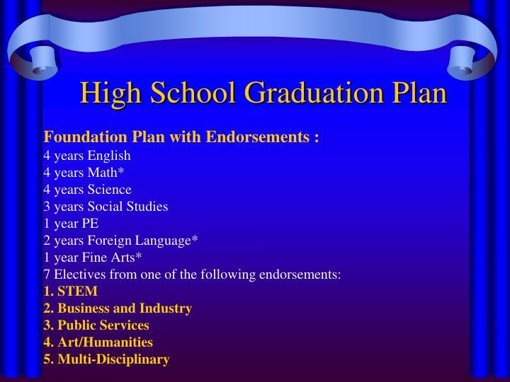 High School Graduation Plan