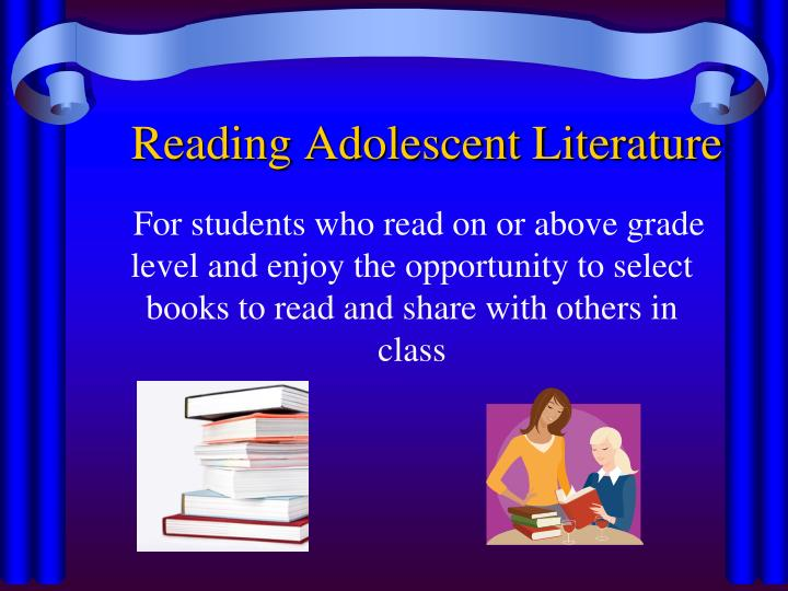 For students who read on or above grade level and enjoy the opportunity to select                                            books to read and share with others in class