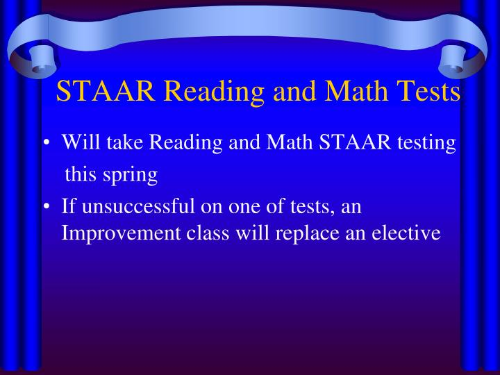 STAAR Reading and Math Tests