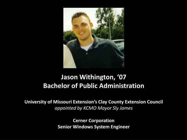 Jason Withington, '07