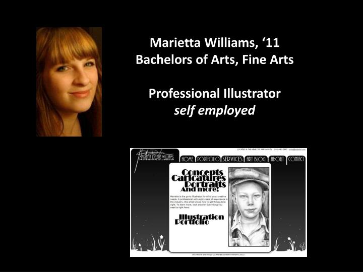 Marietta Williams, '11