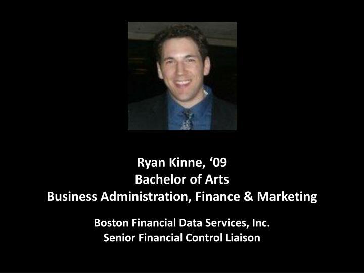 Ryan Kinne, '09