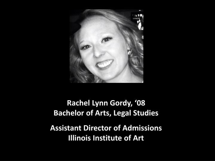 Rachel Lynn Gordy, '08