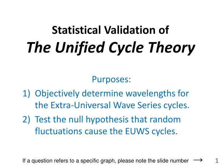 Statistical validation of the unified cycle theory