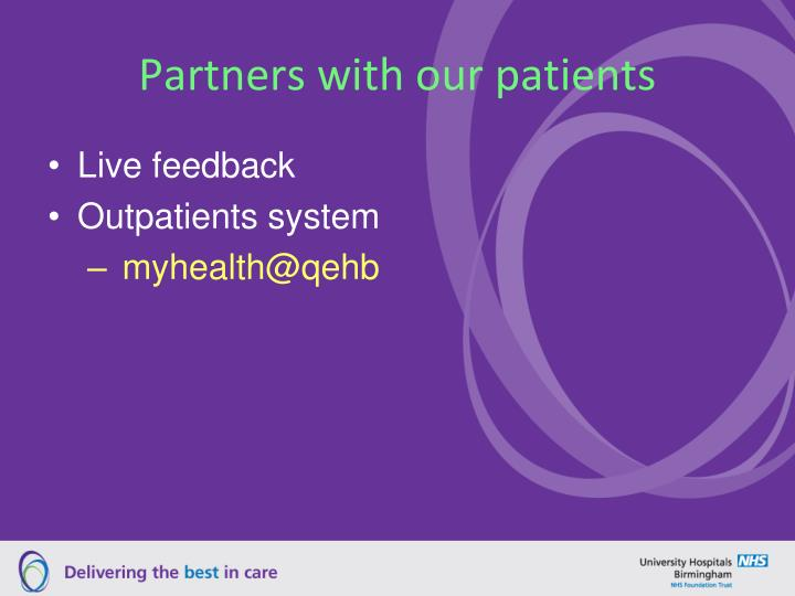 Partners with our patients